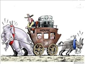 donkey and elephant,